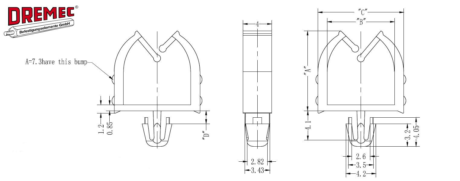 Stand-Off Harness Clip - DREMEC GmbH: Cable